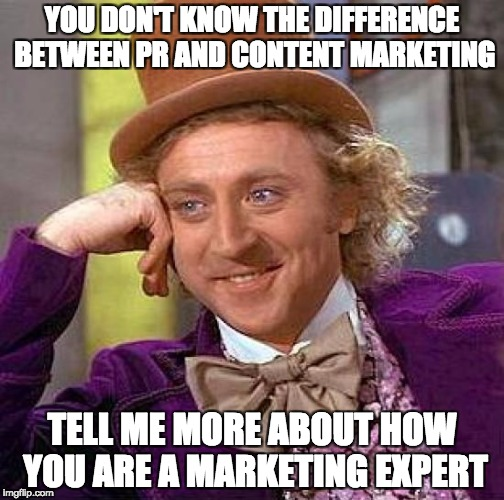 We Need to Talk About This. Content Marketing and Public Relations are Not the Same Thing!